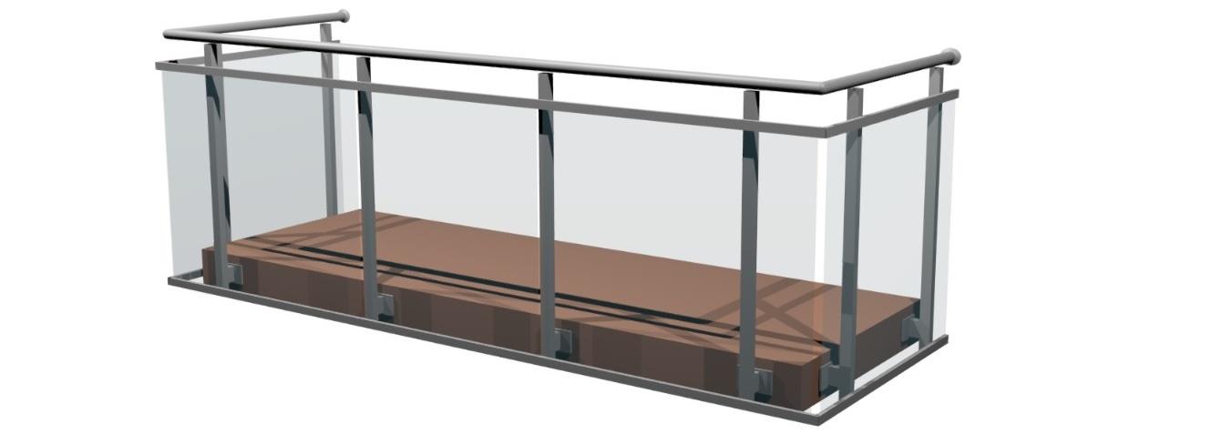Balustrady aluminiowo-szklane